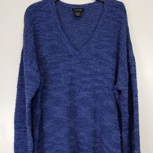 Calvin Klein Jeans blue knitted sweater ribbed